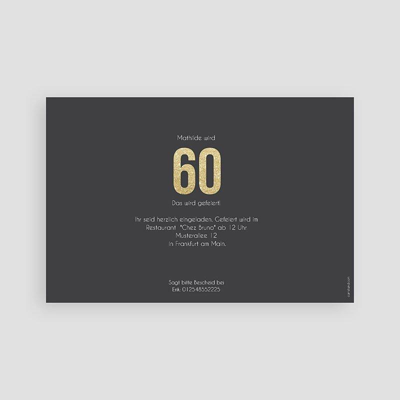 Erwachsener Einladungskarten Geburtstag Goldene 60er pas cher