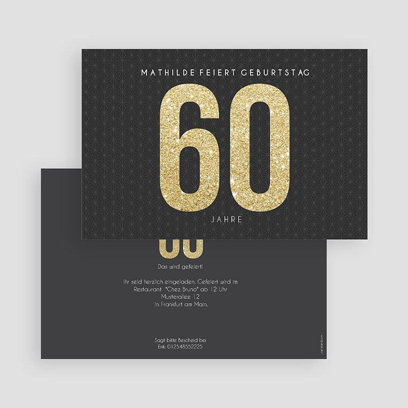 Erwachsener Einladungskarten Geburtstag Goldene 60er gratuit