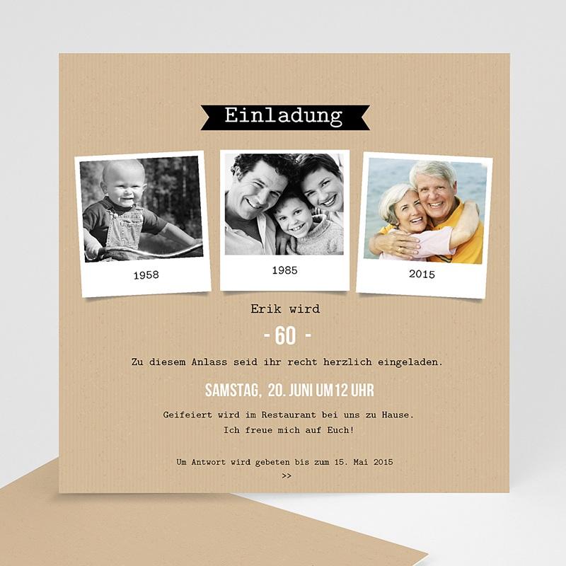 Erwachsener Einladungskarten Geburtstag Dia 60