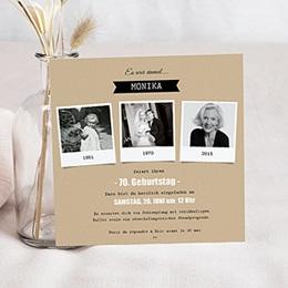 einladungskarten zum 70. geburtstag – hochwertig gedruckt, Einladung