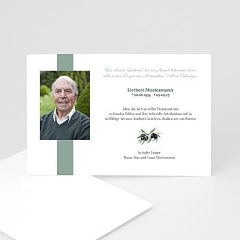 Trauer Danksagung weltlich - Trauerkarte olive - 1
