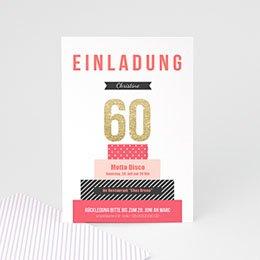 Einlegekarte Anniversaire adulte Torte