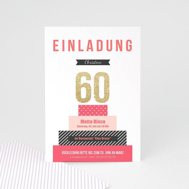 Erwachsener Einladungskarten Geburtstag Torte