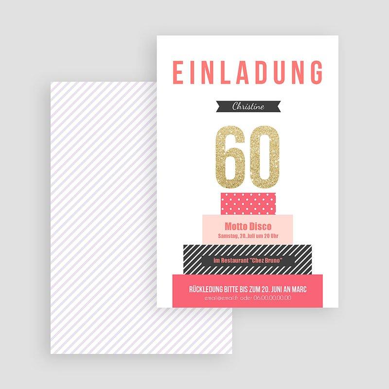 Erwachsener Einladungskarten Geburtstag Torte gratuit