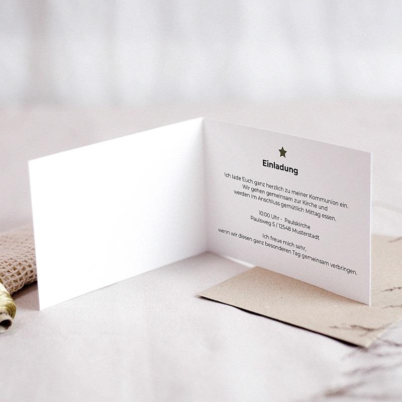 Einladungskarten Kommunion Jungen Kommunionkind  pas cher