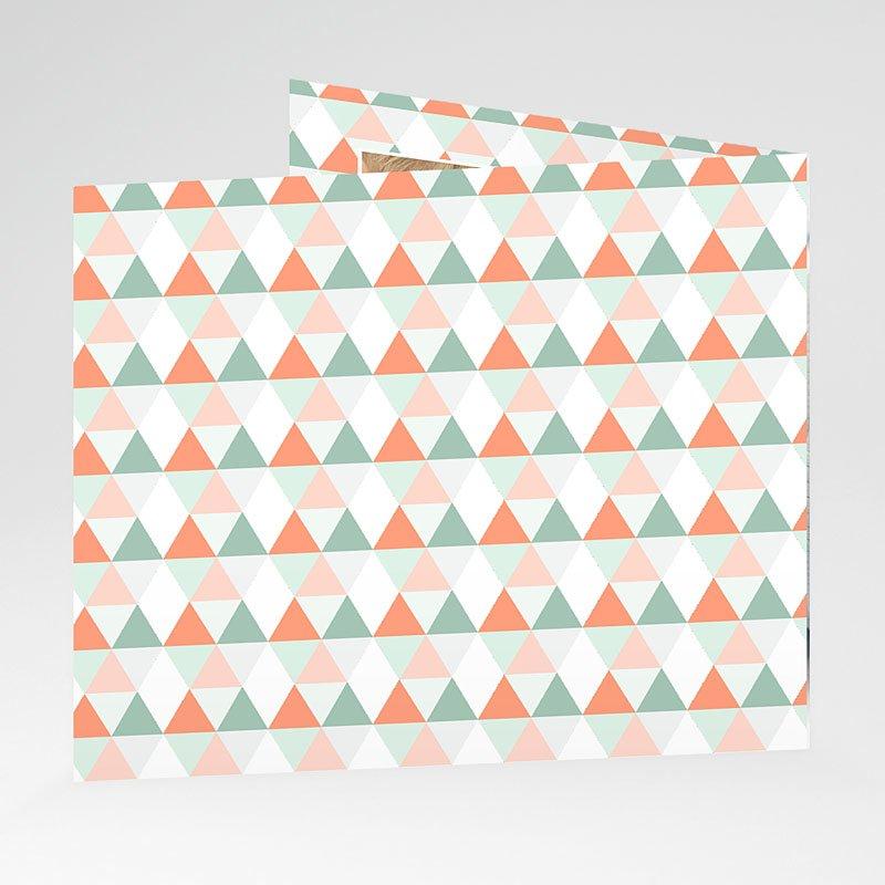 Geburtskarten für Mädchen Zick-Zack gratuit
