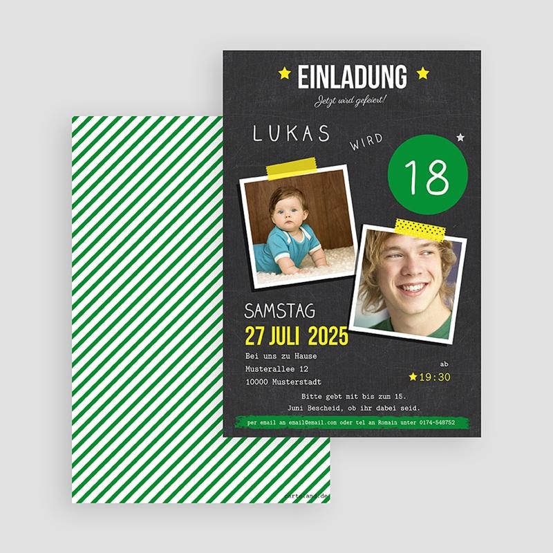 Erwachsener Einladungskarten Geburtstag Pop  gratuit