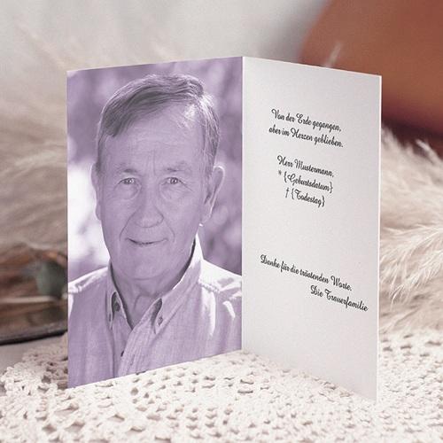 Weltlich Dankeskarten Trauer Unsterbliche Rosen pas cher