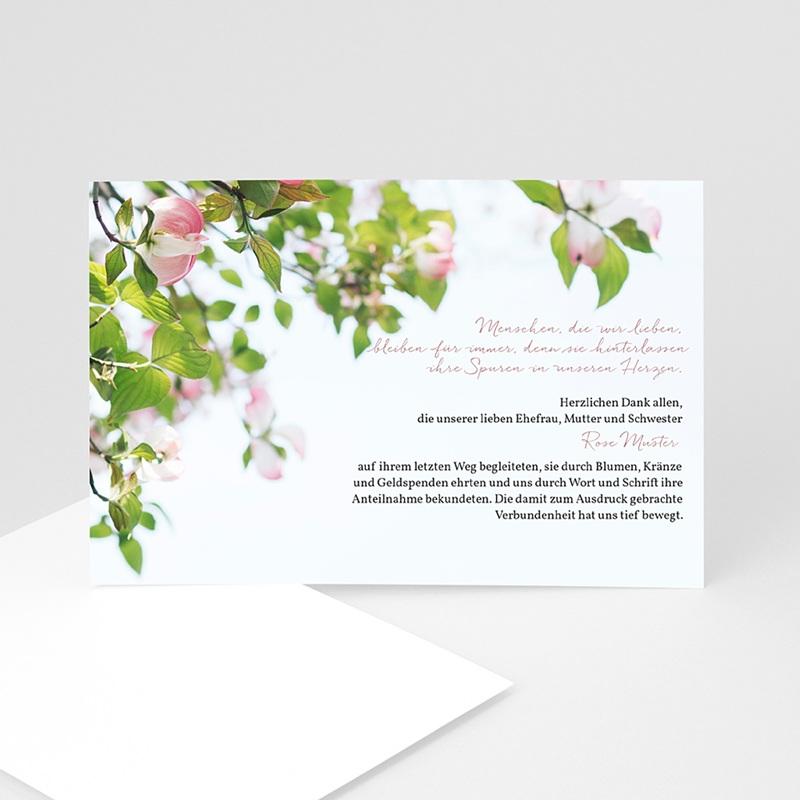 Weltlich Dankeskarten Trauer Rosen ewig