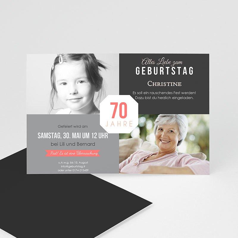 Erwachsener Einladungskarten Geburtstag Damals und Heute