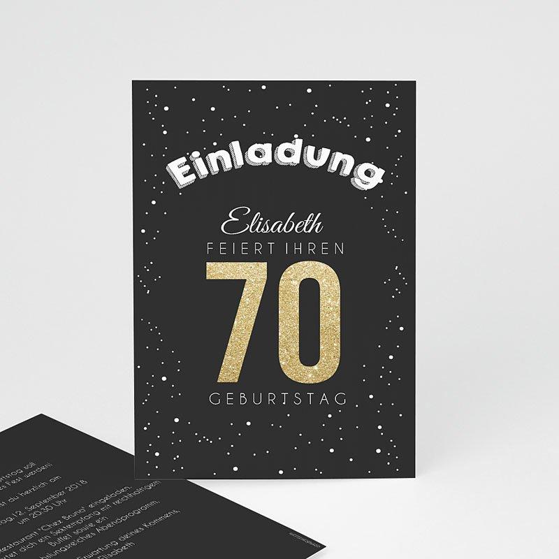 Erwachsener Einladungskarten Geburtstag Goldene 70