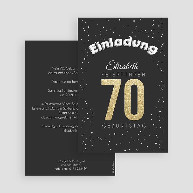 Erwachsener Einladungskarten Geburtstag Goldene 70 gratuit