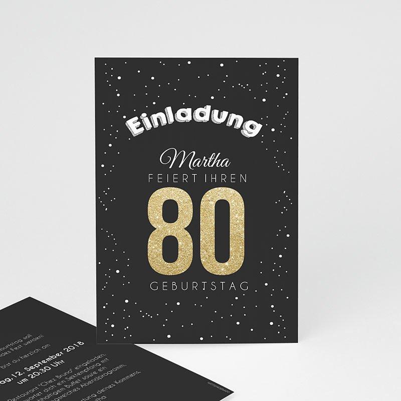 Erwachsener Einladungskarten Geburtstag Goldene 80