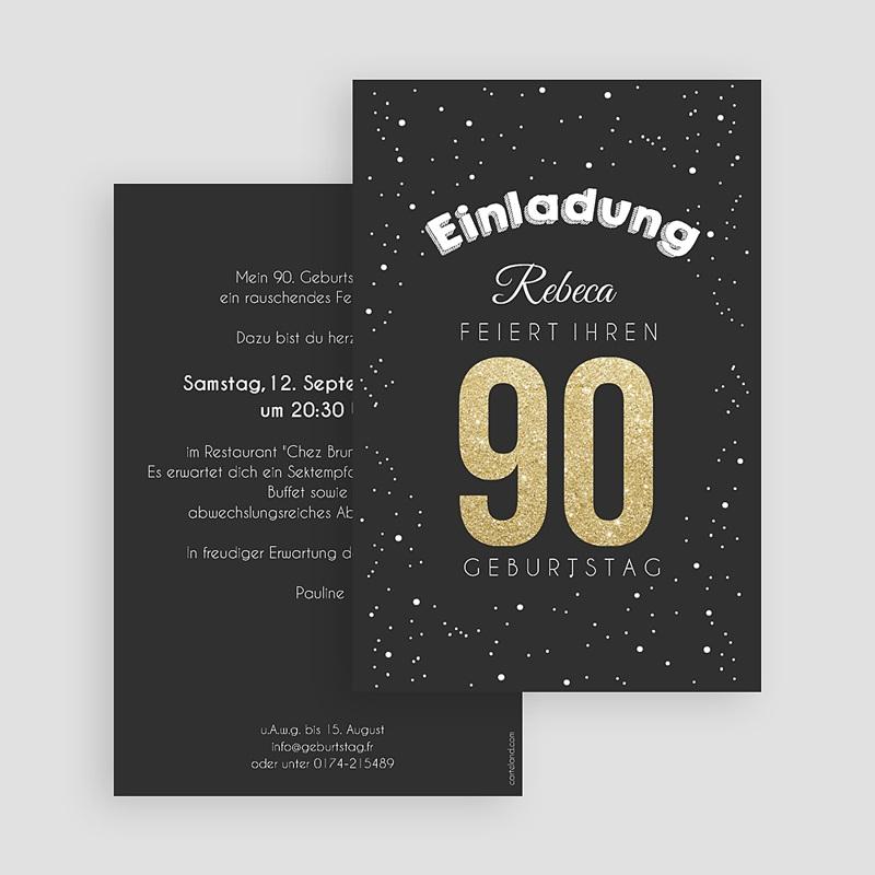 Erwachsener Einladungskarten Geburtstag Goldene 90 gratuit