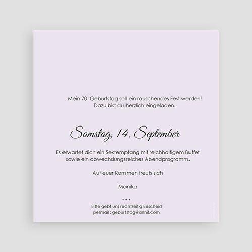 Erwachsener Einladungskarten Geburtstag 70 kleine Blumen pas cher