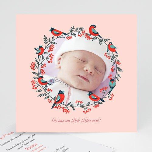 Geburtskarten für Mädchen - Weihnachten Rosa 43366