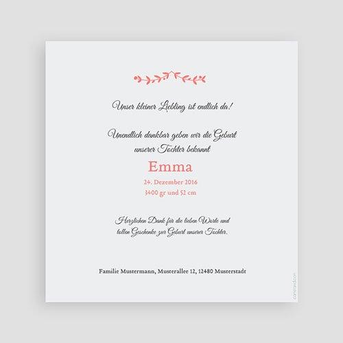 Geburtskarten für Mädchen - Weihnachten Rosa 43367 preview