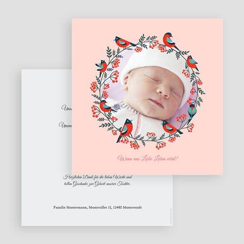 Geburtskarten für Mädchen - Weihnachten Rosa 43368 preview