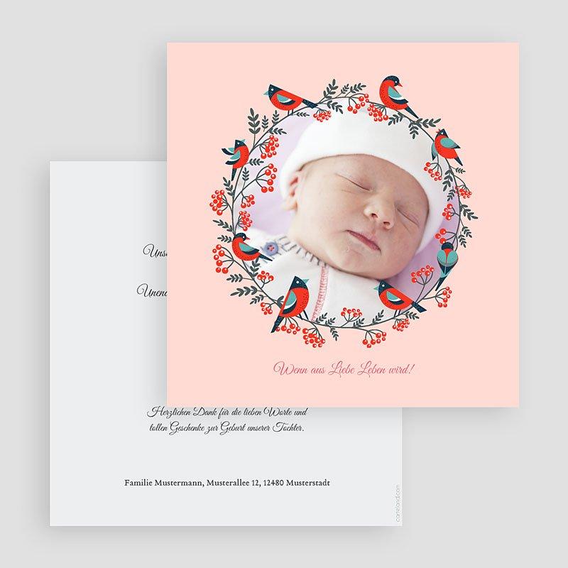 Geburtskarten für Mädchen Weihnachten Rosa gratuit