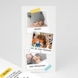 Dankeskarten Geburt Jungen Poladesign