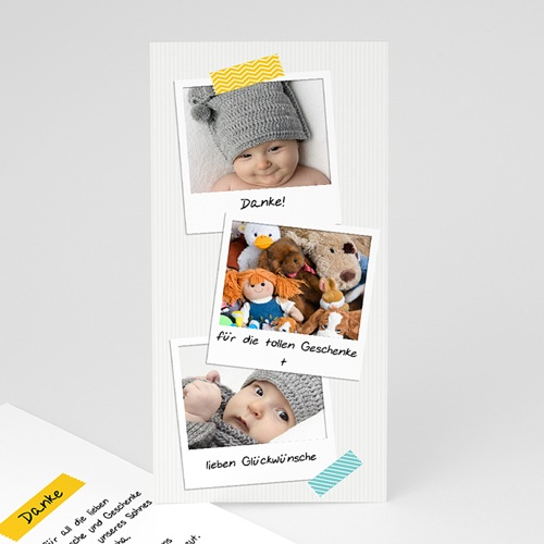 Dankeskarten Geburt Jungen - Poladesign 43389 test