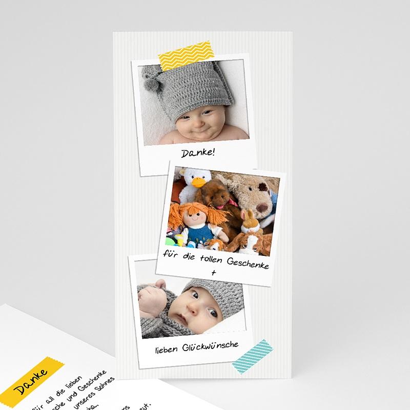 Dankeskarten Geburt für Jungen Poladesign