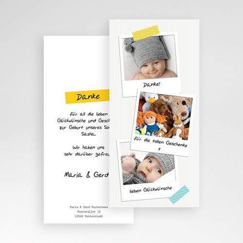 Dankeskarten Geburt Jungen - Poladesign 43390 test