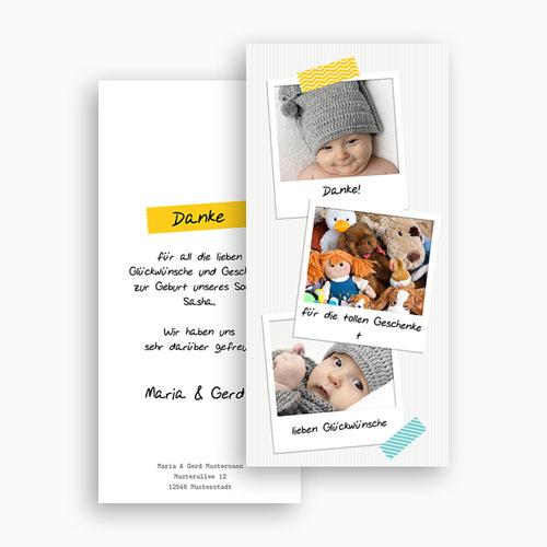 Dankeskarten Geburt Jungen - Poladesign 43391 test