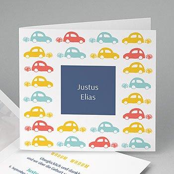 Geburtskarten für Jungen - Auto - 0