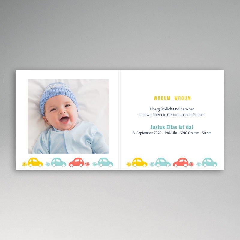 Geburtskarten für Jungen Brumm Brumm pas cher