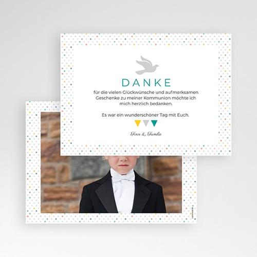 Dankeskarten Kommunion Jungen - Bunte Fähnchen 43406 preview