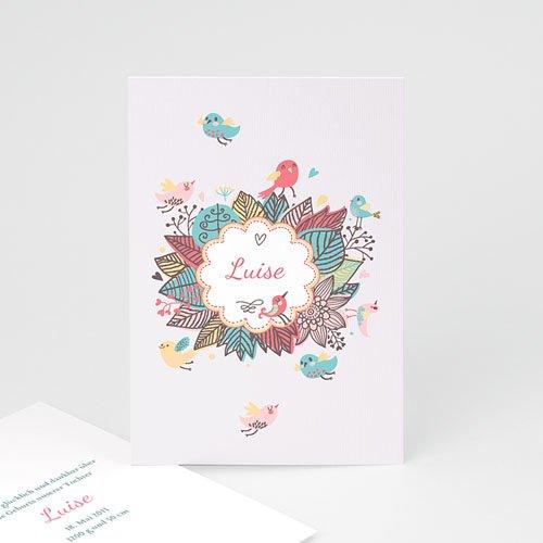 Geburtskarten für Mädchen - Gezwitscher 43414