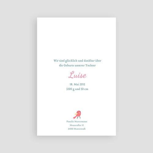 Geburtskarten für Mädchen Gezwitscher pas cher