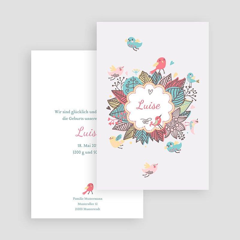 Geburtskarten für Mädchen Gezwitscher gratuit