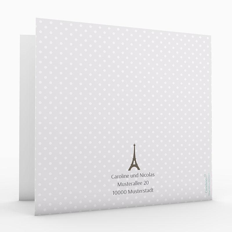 Hochzeitseinladungen mit Foto Paris Eifelturm gratuit