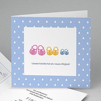 Babykarten für Zwillinge gestalten - Sommersandalen - 0