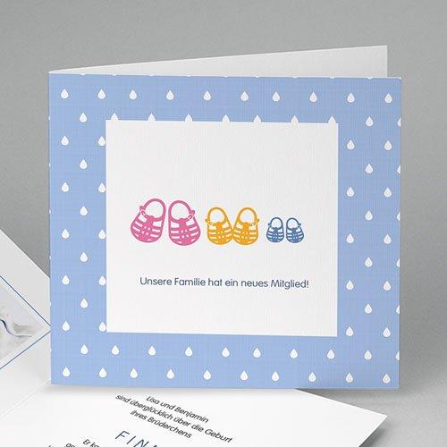 Babykarten für Zwillinge gestalten - Sommersandalen 43511