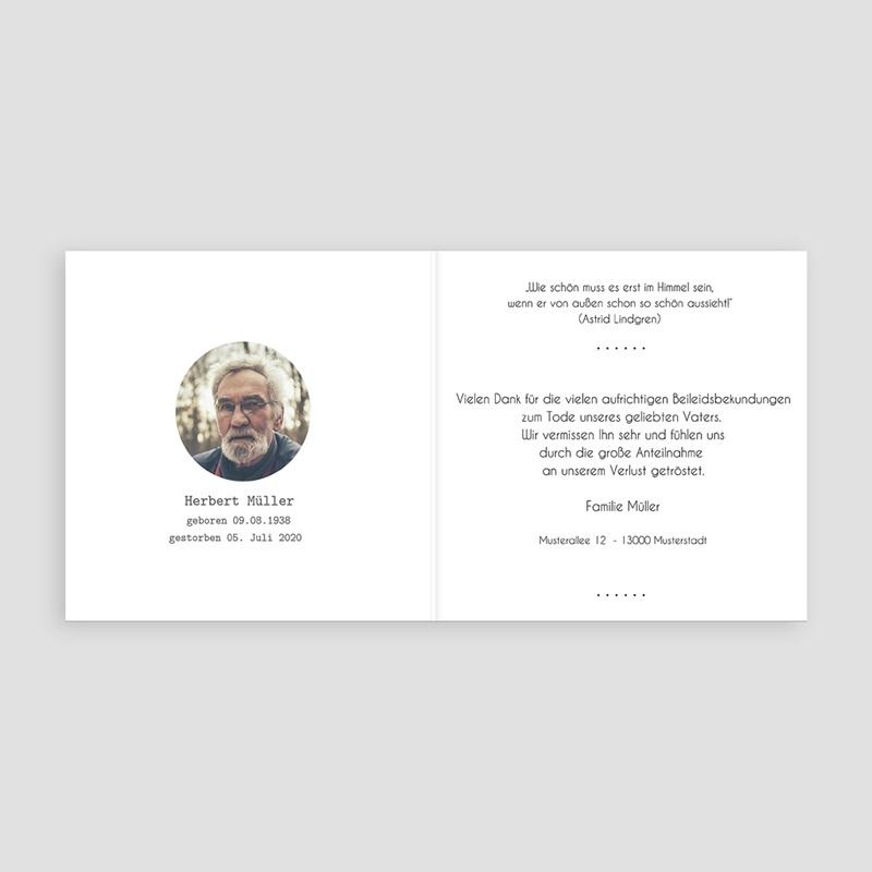 Weltlich Dankeskarten Trauer Trauerweide pas cher