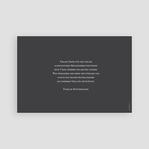 Trauer Danksagung weltlich - Blättermotiv 43518 thumb