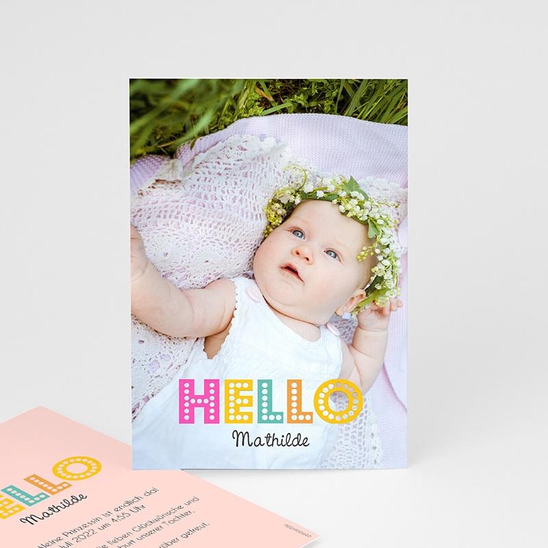 Geburtskarten für Mädchen Hello multifarben