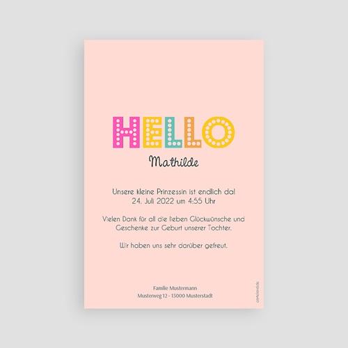 Geburtskarten für Mädchen - Hello multifarben 43545 preview