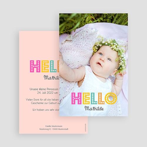 Geburtskarten für Mädchen - Hello multifarben 43546 preview