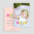 Geburtskarten für Mädchen - Hello multifarben 43546 test