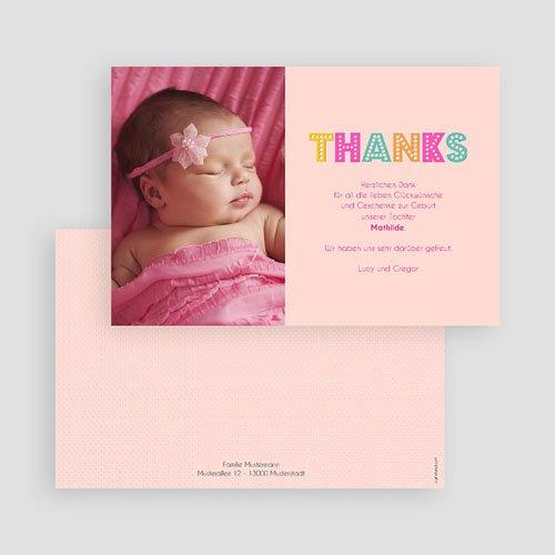 Dankeskarten Geburt Mädchen - Hello multifarben 43555 preview