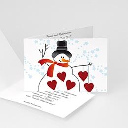 Weihnachtskarten - Schneemann - 1