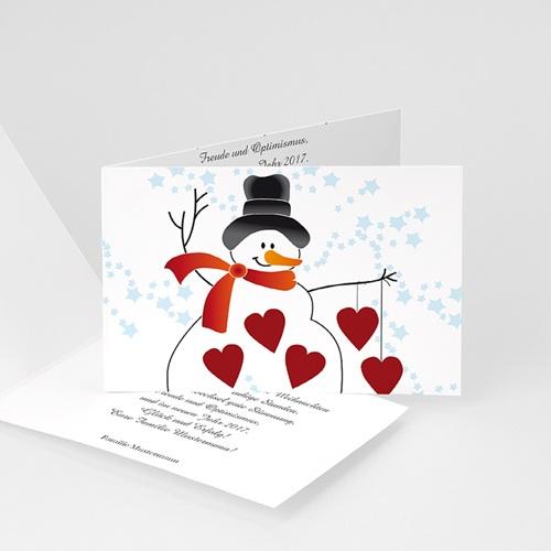 Weihnachtskarten - Weihanchtskarte Schneemann 4356