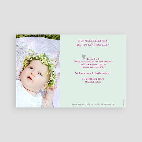 Dankeskarten Geburt Mädchen - Sommer Baby 43563 preview