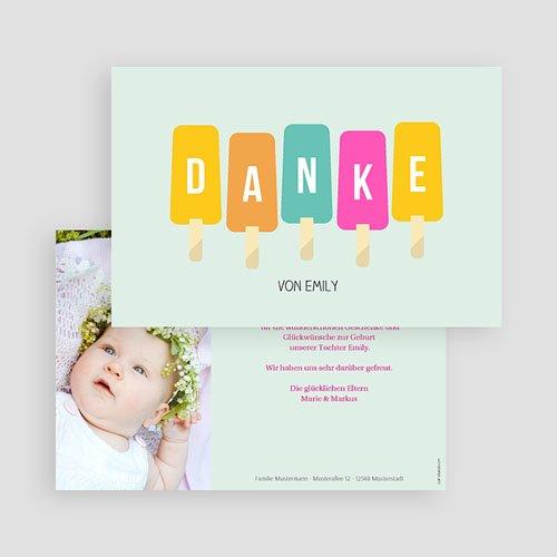 Dankeskarten Geburt Mädchen - Sommer Baby 43564 preview
