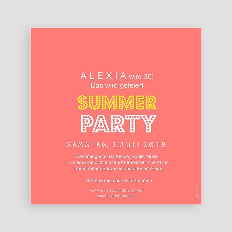 Erwachsener Einladungskarten Geburtstag Summer Party pas cher