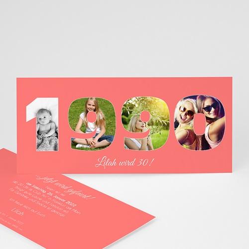 Erwachsener Einladungskarten Geburtstag Fotozahl 30